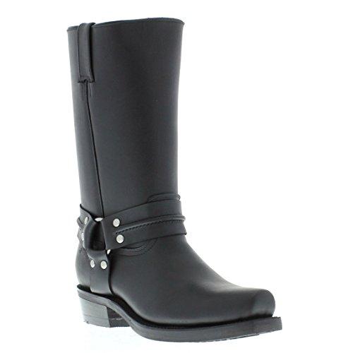 Meuleuses Renegade Hi unisexe noir Boots en cuir Cowboy Western motards hautes bottes