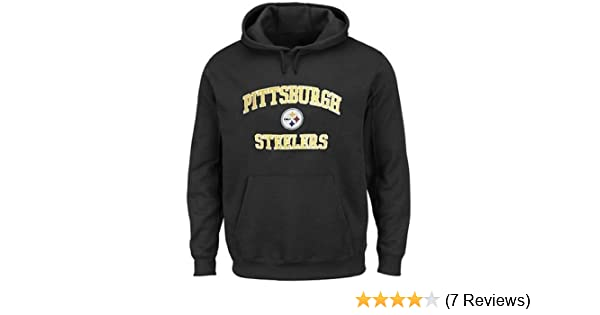 buy popular ecfc6 8f454 Majestic Pittsburgh Steelers NFL Men's Home Turf Pullover Hoodie Black Big  & Tall Sizes