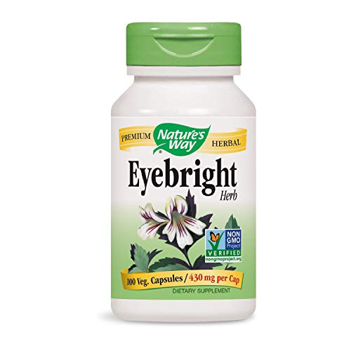 Nature's Way Eyebright Herb 430 mg per Capsule, 100 Vcaps, Pack of 2 ()
