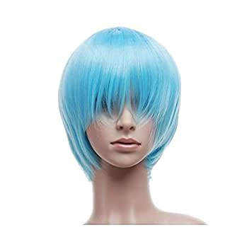 Light Blue Short Length Anime Cosplay Costume Wig
