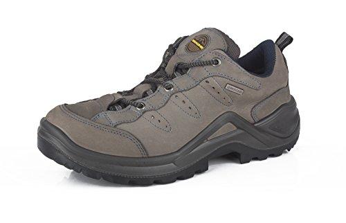 Beaume - Zapatillas de senderismo de Piel Vuelta para hombre gris oscuro