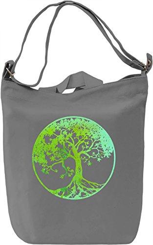 Tree Of Life Borsa Giornaliera Canvas Canvas Day Bag| 100% Premium Cotton Canvas| DTG Printing|