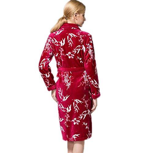 Noche Sche Loungewear A Pijamas Mujeres Casuales Coral M Nuevas De Vellón Albornoz Acolchadas L Y Invierno Franela Señoras Camisón Cálido S gnnaCTOW
