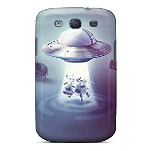 WVLrahF5664vBLDv Mwaerke Awesome Case Cover Compatible With Galaxy S3 - Ufo And Cow