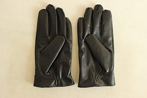 CWJ Men's Gloves Thick Drive Car Ride Warm,Black,One Size by CWJ (Image #2)