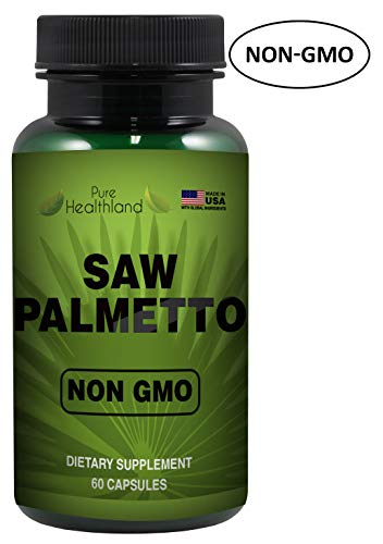 Reduce Frequent Urination! Non-GMO Saw Palmetto Supplement Capsules Support Mens Prostate Health - High Quality & Potency 500mg Prostate Support Formula - Made in USA