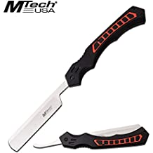 Portable Tactical Folding Pocket Knife Straight Razor Mtech Tactical Black Red Stainless Steel iCareYou Blade