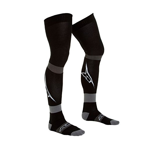 AXO Unisex-Adult A logo Kids MX Long Socks (Black, One (Axo Mx Socks)