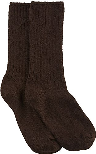 Hue Women's Ribbed Boot Sock, Espresso, Medium