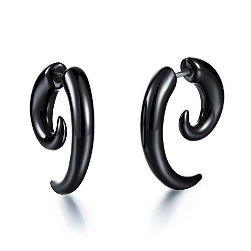 Fashion Earrings Punk Acrylic Black Snails Stud Earrings for Women/Men