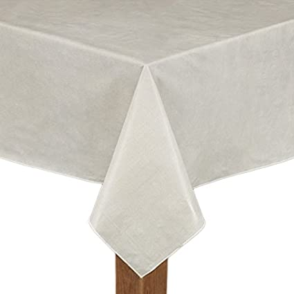 Café Deauville Ivory 60x84 Oval Vinyl Tablecloth