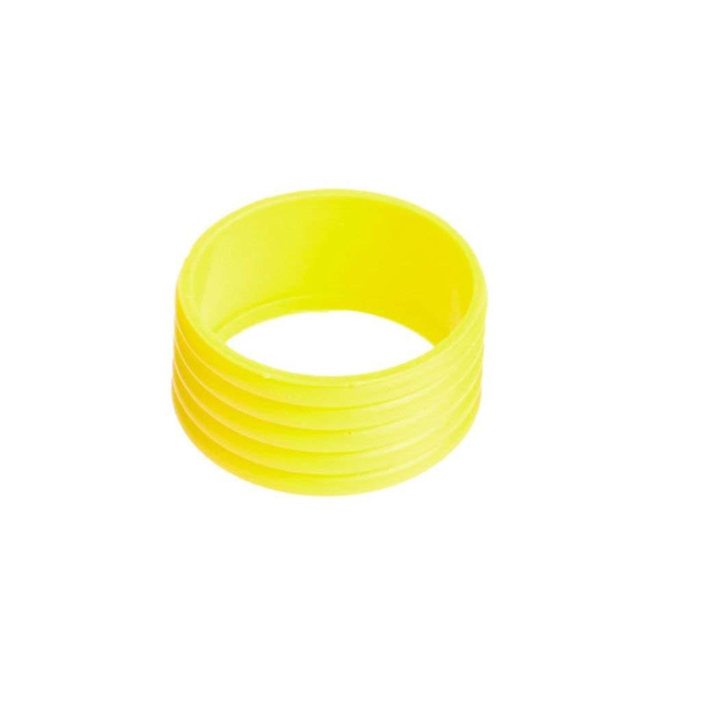 zzqyis Nuevo Elástico Anillo de Goma Banda Overgrips Raqueta de Tenis de la Requeta de Tenis Mango 5 Colores Opcionales Amarillo Rojo Azul Blanco Negro ...