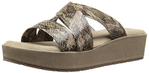 Kenneth Cole REACTION Women Calm-Ing Platform Sandal Taupe