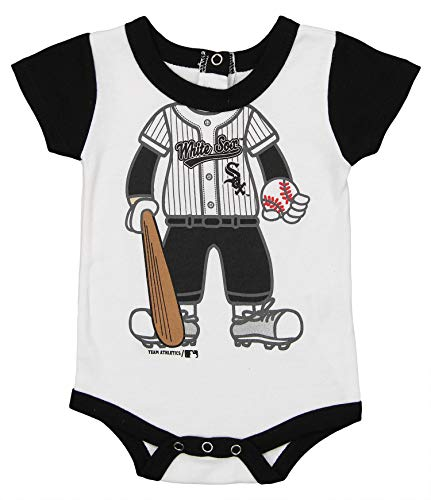 Sox White Onesie Chicago (Outerstuff MLB Newborn and Infant's Baseball Creeper, Chicago White Sox 12 Months)
