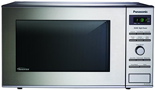 Panasonic NN-SD372S Countertop Microwave with Inverter Technology 0.8 Cu. Ft., 950W, Stainless