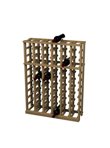 Wine Cellar Innovations Rustic Pine Individual Half Height Wine Rack for 66 Wine Bottles, 6 Column, Light Stained
