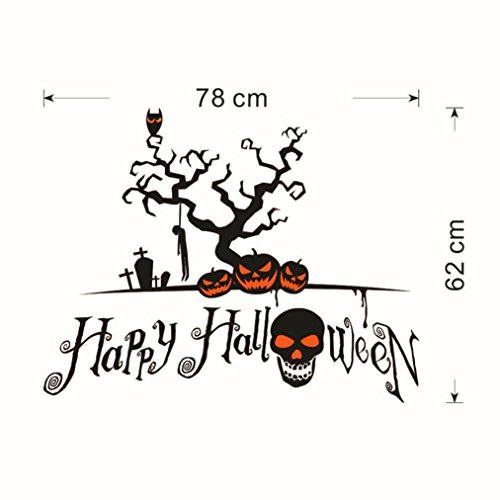 Mandy Wall Sticker,Halloween Pumpkin Cartoon Home Decal Decor ()
