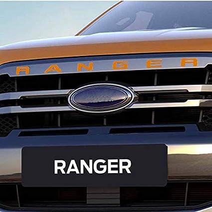 Ozkak Ranger Gitter Oben Logo Brief 3D Emblem Originalgr/ö/ße ABS Aufkleber Chrom Styling mit Klebstoff Wei/ß