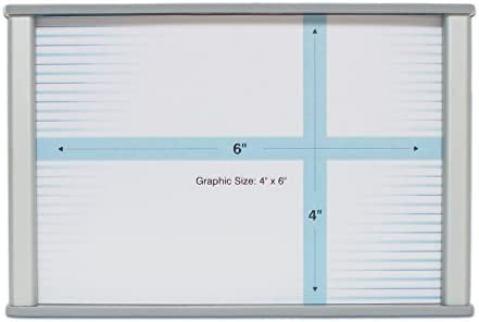10 x 8 Howard Industries Changeable Business and Store Sign Holder with Suction Cup Brushed Aluminum HID-WML-F1008