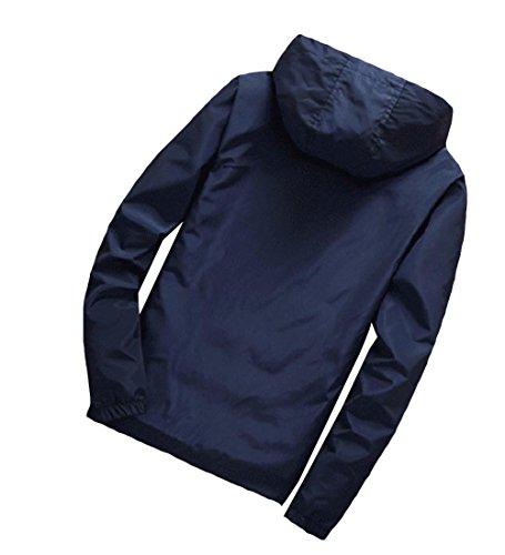 Vestiti Svago Blu Sportiva Outwear Violaceo Againg Bomber Esterni Cappotti Di Againg Cappuccio Maschile Con Uomini qBRAxA