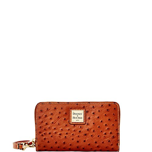 Dooney & Bourke Ostrich Emb Leather Zip Wristlet Clutch by Dooney & Bourke