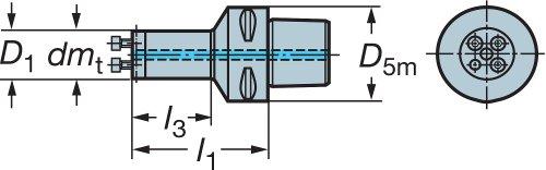 Neutral Cut 5728498 Steel Coromant Capto to CoroTurn SL adaptor Sandvik Coromant C4-570-2C 25 064