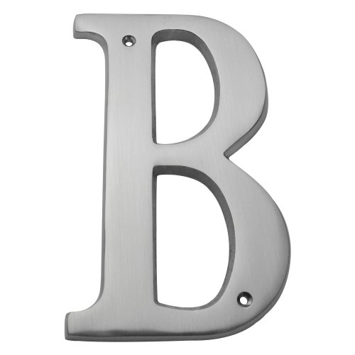 Bolton Hardware Letter 6 Inch Solid Brass Satin Nickel Finish House Letter Raised 1/4