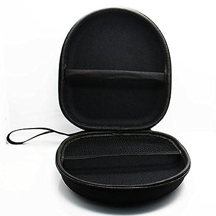 SODIAL 1pz Estuche Duro Almacenamiento para Auriculares Bolsa Bolso de Llevar Cable de Auriculares Caja de retencion de Tarjeta SD Negro
