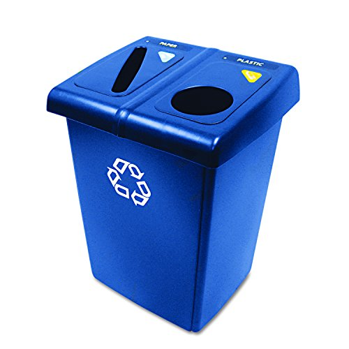 Rubbermaid Commercial 1792339 Glutton Recycling Station, 2-Stream, 46-Gallon, -