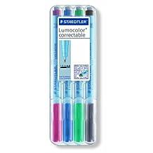 Lumocolor STAEDTLER Correctible Pen, 4 Pack (305M WP4)