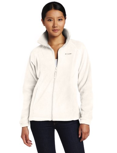 Columbia Women's Benton Springs Full Zip Fleece Jacket, Sea Salt, X-Large - Logo Fleece Jacket