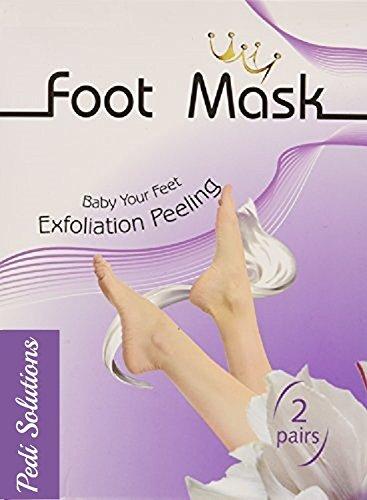 2 paire Pedi Solutions exfoliant masque de pied, peau pied callus remover. Pied de qualité meilleure exfolier. Mettre bébé doux soyeux pied facilement et efficacement.