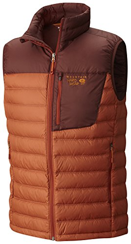 Mountain Hardwear Lightweight Vest - Mountain Hardwear Dynotherm Down Vest - Men's Dark Copper Redwood Medium