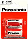 Panasonic Size C Batteries R14RZ-2BP (Pack of 2)