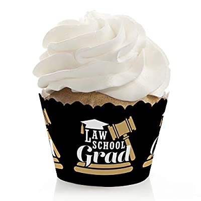 Big Dot of Happiness Law School Grad - Future Lawyer Graduation Party Decorations - Party Cupcake Wrappers - Set of 12: Toys & Games
