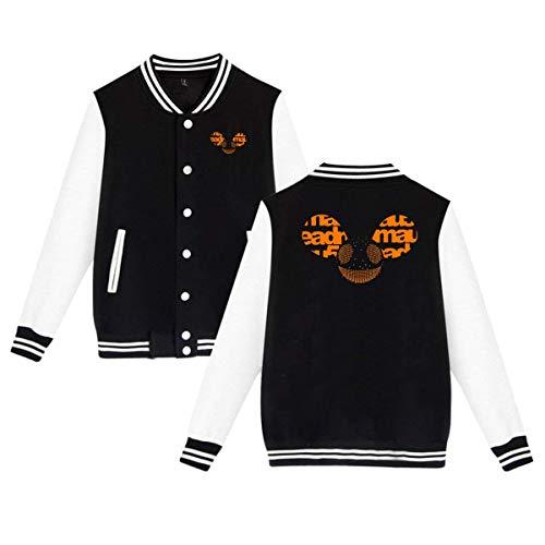 FRBER Deadmau5 Men's Baseball Jacket Uniform Sweater Coat XL Black -