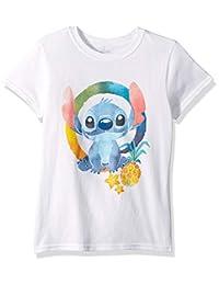 Disney Girls Big Girls Lilo & Stitch Ohana Short Sleeve Tshirt