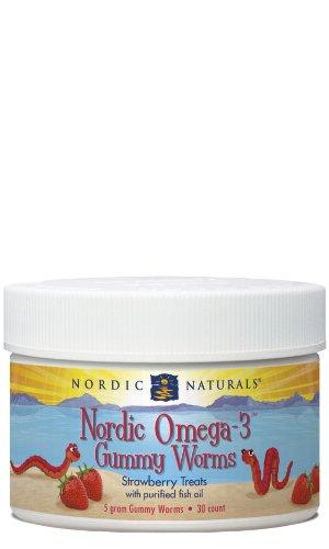 Nordic Naturals - Nordic oméga-3 fraise Gummy Worms - 30 Count