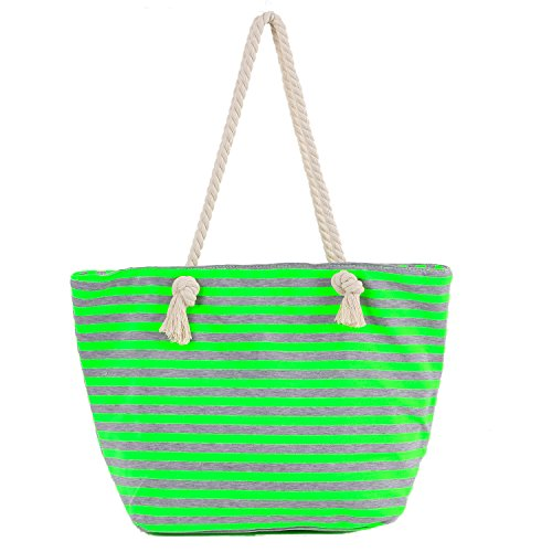 plage style grün femme DonDon Streifen Sac grau ethnique de wEqBBIpU