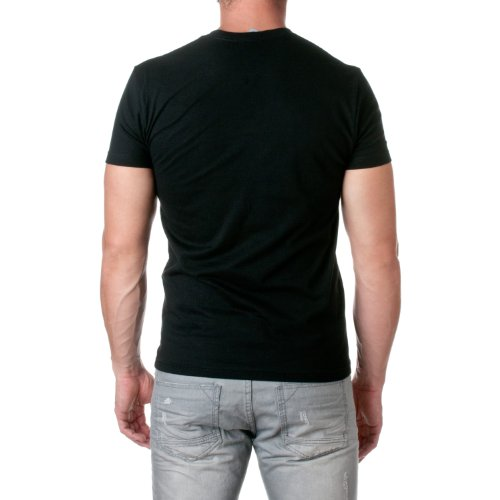 Next Level Mens Premium Fitted Short-Sleeve Crew, Dark Black, Size ...