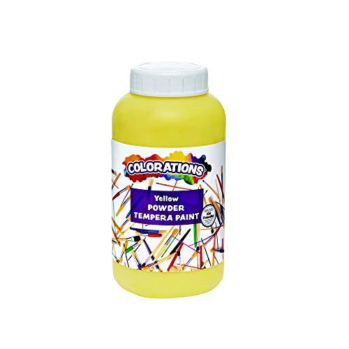 Colorations CPTYE Powder Tempera, Yellow - 1 lb.