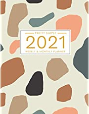 2021 Planner Weekly and Monthly: January to December 2021 Planner Calendar for Women: Abstract Cover