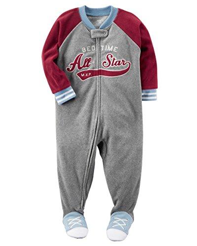 2278651206 Galleon - Carter s Boys 1 Piece Blanket Sleeper Fleece Pajamas-All Star- 5T