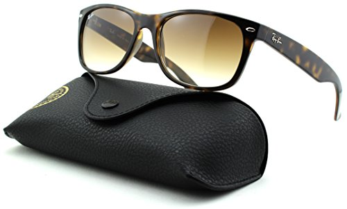 Ray-Ban RB2132 New Wayfarer Gradient Unisex Sunglasses (Light Havana Frame/Crystal Brown Gradient Lens 710/51, - Wayfarer 710 Ban Ray Rb2132