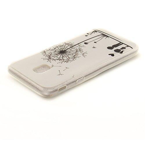 Transparent Samsung Silicone TPU De Slim Arrière Scratch En Cas Couverture Souple Résistant Téléphone Bord Galaxy Cas J3 Protection Hozor Fit J330 2017 Antichoc Dandelion De Peint Motif 4qdRnwPx8