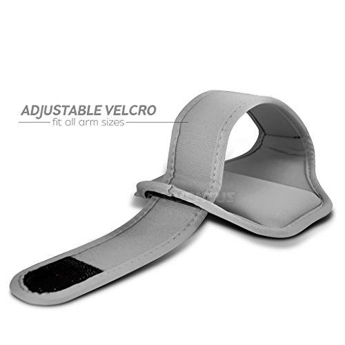 Aventus LG G3 / G3 Dual-LTE / G3 (CDMA) / G3 LTE-A (Baby Blau) Voll einstellbare Leicht Hulle Armband-Halter-Kasten-Abdeckung Running, Walking, Radfahren, Fitnessraum und andere Sportarten Weiß