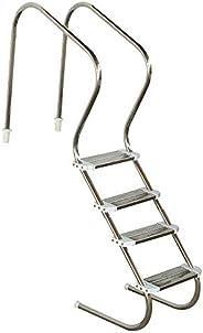 """Escada Sodramar Em Aço Inox Confort 2"""" Com 4 Degraus Duplos Sodramar - A Piscina Dos Seu Sonhos Escada So"""
