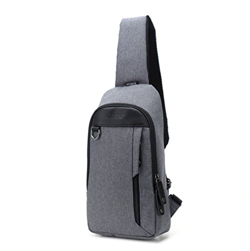 Day Daypack Gray Bag Casual Backpack Canvas Bag body Daily Small Messenger shoulder Grey Bag Cross Sechunk bag Crossbody qxItqa