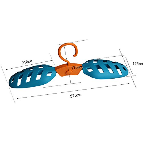 Onefeng Sports 1 Pack Foldable Wet Suit Hanger For Traveling Camping Laundry Hotel Plastic Clothes Wetsuit Hangers (Blue, 1 Pack) by Onefeng Sports (Image #4)