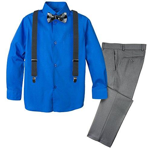 Spring Notion Boys' 4-Piece Dress up Pants Set 5